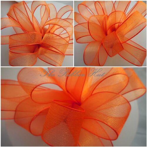 Sheer//Chiffon//Organza Ribbon-Woven Ribbon-9MM//15MM//25MM-3//2 Metres