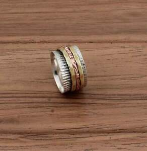 Solid-925-Sterling-Silver-Spinner-Ring-Meditation-Ring-Statement-Ring-Size-st878