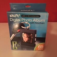 Shift3 Digital Photo Album with Key Chain Holds 60 Photos NEW in Box