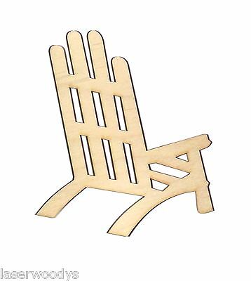 Beach Chair Unfinished Wood Shape Cut Out BC5106 LaserCrafts Lindahl Woodcrafts