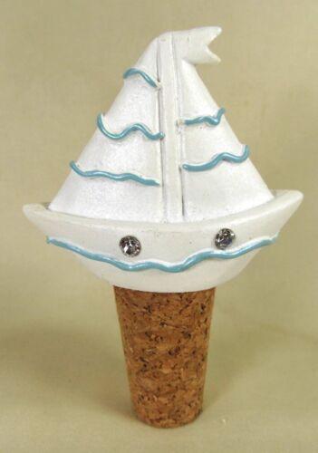 Bottle Stopper Seaside Jewels Sail Boat Bar Accessory