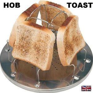CAMPER-amp-MOTORHOME-4-Slice-Folding-Camper-Toaster-For-Gas-Hob-Cooker-SELFBUILD