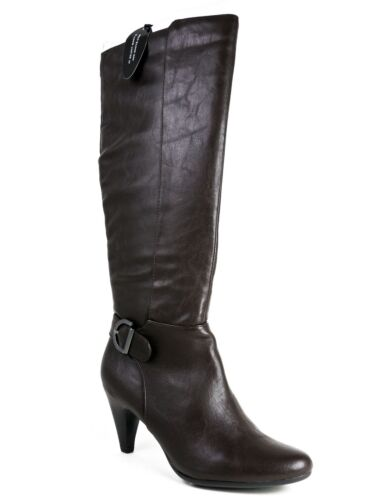 pour 733004379055 Alfani M 7 High femmes Faux Knee Jeanna Brown 5 taille Leather 0nwPkO