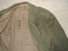Trench Coat Vintage Army Green Military 96 Heavy Wool Double Breasted 1955 Royal