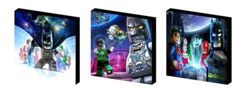 LEGO BATMAN SET b CANVAS  ART BLOCKS// WALL ART PLAQUES//PICTURES