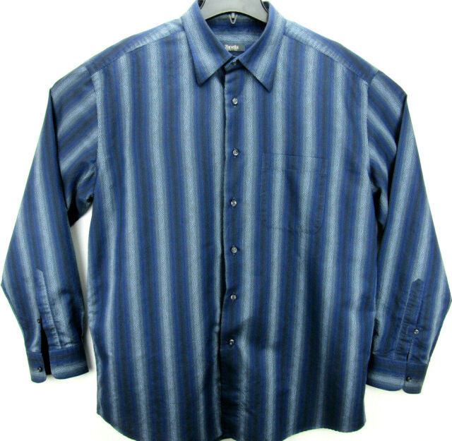 Zanella Men's Size 2XL Long Sleeve Button Front Shirt Made in Italy