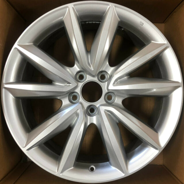 19 Inch 2019 2020 Acura RDX OEM Silver Machined Wheel Rim