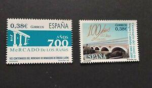 España año 2006 CENTENARIOS Nº 4256 y 4257 MNH