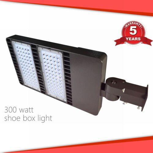 300W LED Parking Lot Light Shoebox Area Fixture IP65 Court Field Hotel ETL DLC