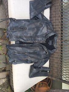 Muubaa-Gray-Distressed-Leather-Motorcycle-Jacket-Small