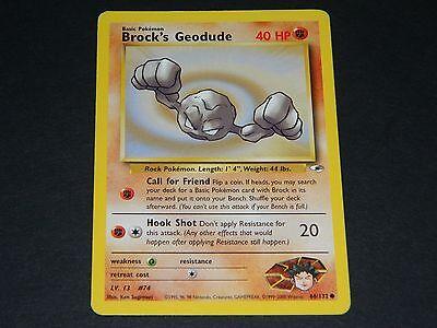 Pokemon Gym Heroes Set COMMON Brock/'s Geodude 66//132 NM//M Condition