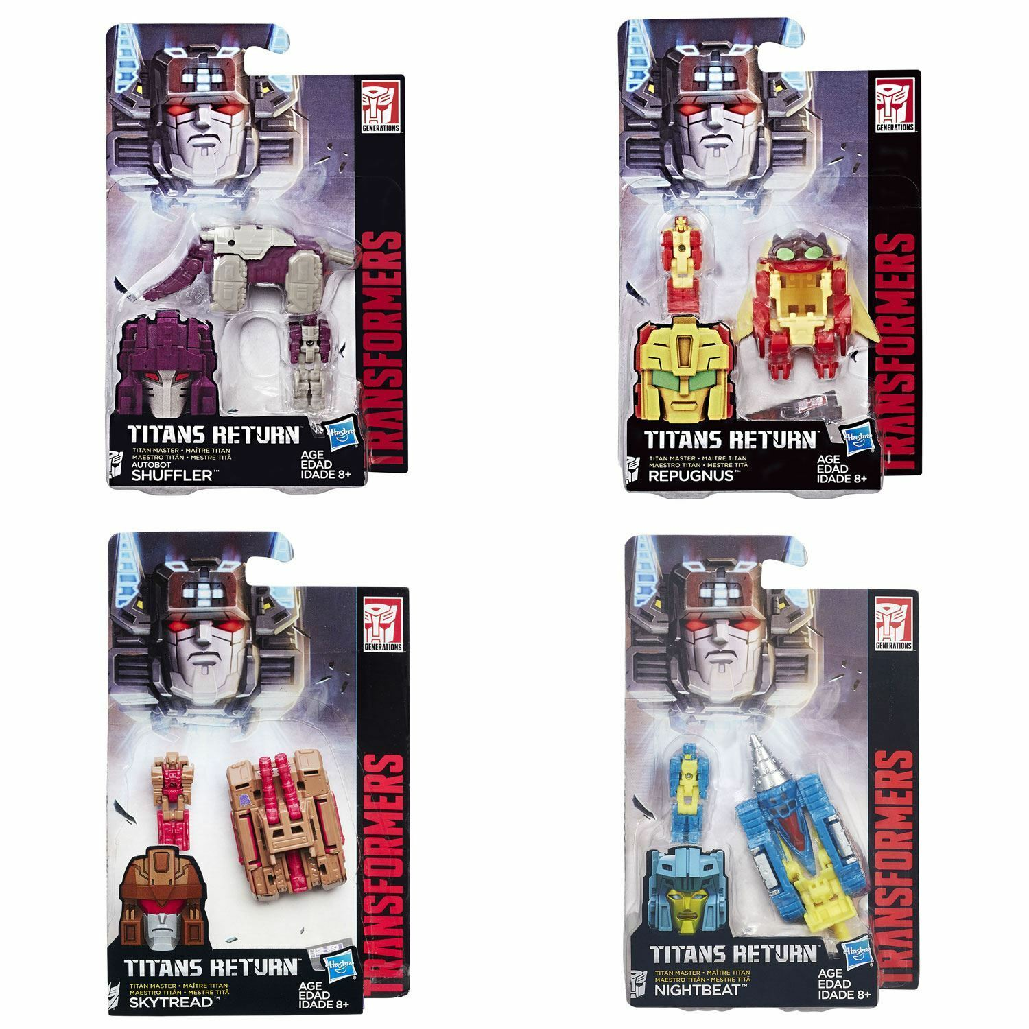Transformers Titans Return Titan Master SET OF 4 (Shuffler, Repugnus & more)