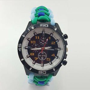 Paracord-Watch-with-Royal-Corp-of-Signals-RCOS-Colours-a-Great-Gift