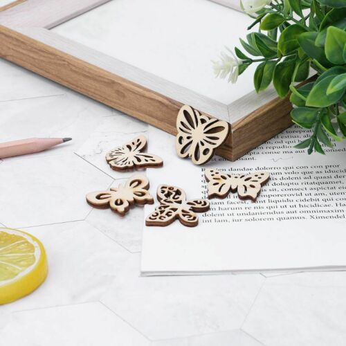 Holz Schmetterlinge Mix Scrapbooking Butterfly Anhänger Basteln Perlen Schmuck