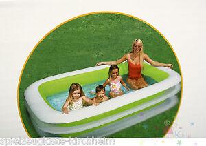 intex swimming pool planschbecken schwimmbecken 262x175x56cm family pool gr n ebay. Black Bedroom Furniture Sets. Home Design Ideas