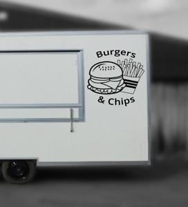 Catering package 4 Burger Van Decals Catering Trailer Stickers//Vinyl Graphics