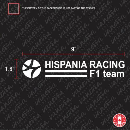 2X HISPANIA RACING F1 TEAM sticker vinyl decal