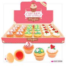24 x Cupcake LipGloss Lippenbalsam Box Schokolade Kirsch Mint Geschmack