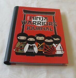 Details about NINJA WARRIOR RED JOURNAL WITH STICKERS & COLLECTORS CARD  SLEEVES