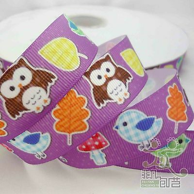 "7/8""22mm Mixed Cartoon Grosgrain Ribbon Craft 1/10/100 Yards 16 Designs U Pick"