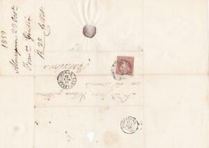 Spain 19th century imperf stamp cover  Ref: 8235