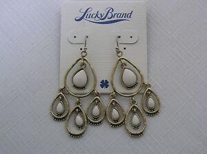 Lucky-Brand-Gold-Tone-Cream-Stone-Chandelier-Earrings
