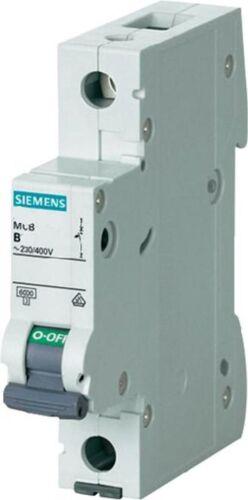 Nouveau Siemens 5SY6 B6-6 amp 6A miniature disjoncteurs-disjoncteur 230//400V