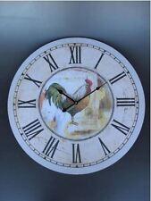 Wanduhr Clock HAHN Gallier Batterie rund Geschenk in Vintage Ästhetik Rarität