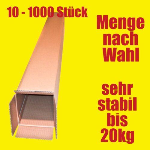 Cajas de cartón 1200 x 126 x 126 mm muy larga vaina para envío paquete DHL//DPD marrón