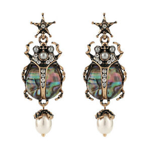 Fashion-Imitation-Pearl-Star-Insect-Statement-Earrings-for-Women-Party-Jewelry