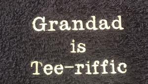 Tee-Riffic Personnalisé Brodé Golf Serviette papa, grand-père ou Oncle