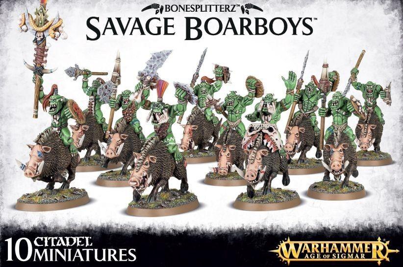 Bonesplitterz Savage Boarboys Warhammer Age of Sigmar Games Workshop Savage Orcs
