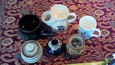 A VINTAGE JOB LOT OF POTTERY AND CERAMIC PEICES SOLD AS SEEN.