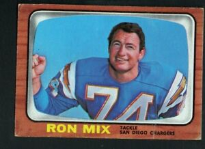 Amerikaans voetbal 1966 Topps #128 Ron Mix San Diego Chargers Football Card
