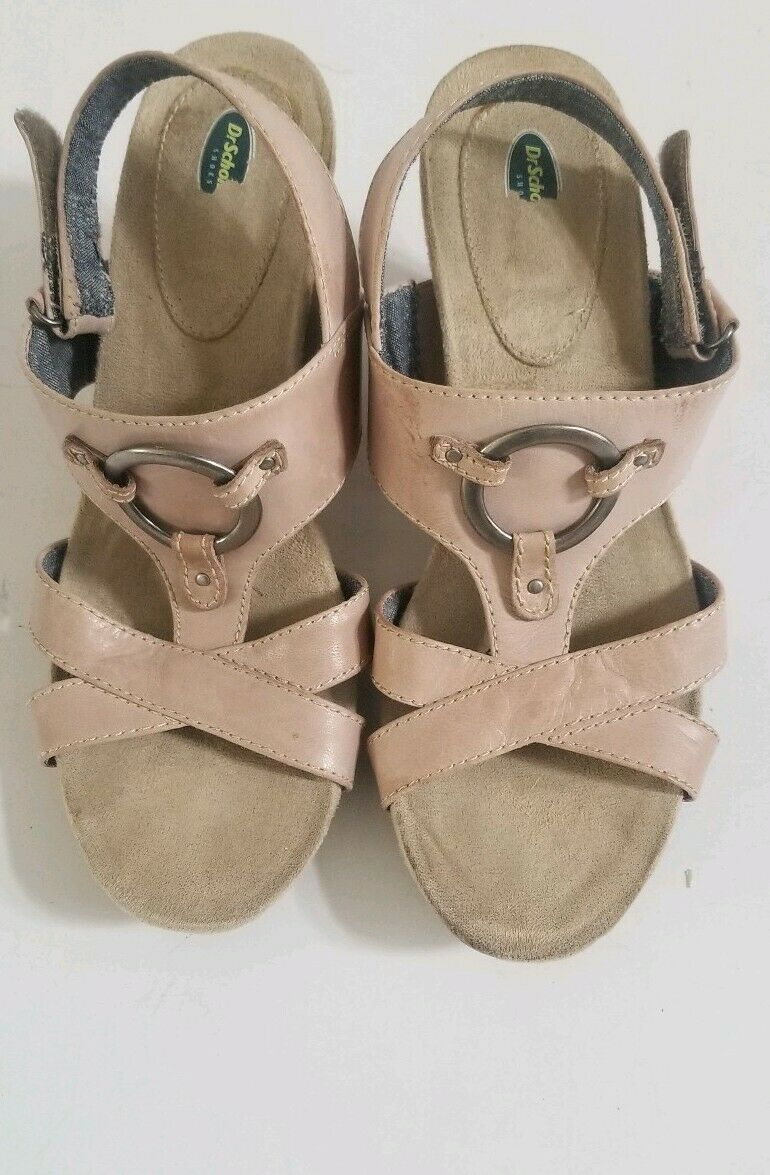 Dr. Scholl's women's sandals taupe Pondering Memory Foam Leather Size 8.5 M