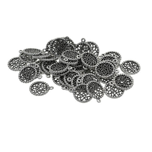 50X Creative Spiderweb Charm Pendants for Jewelry Making Crafts Keyrings DIY