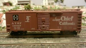 Athearn-BB-40-039-Boxcar-Santa-Fe-Super-Chief-Upgraded-Exc