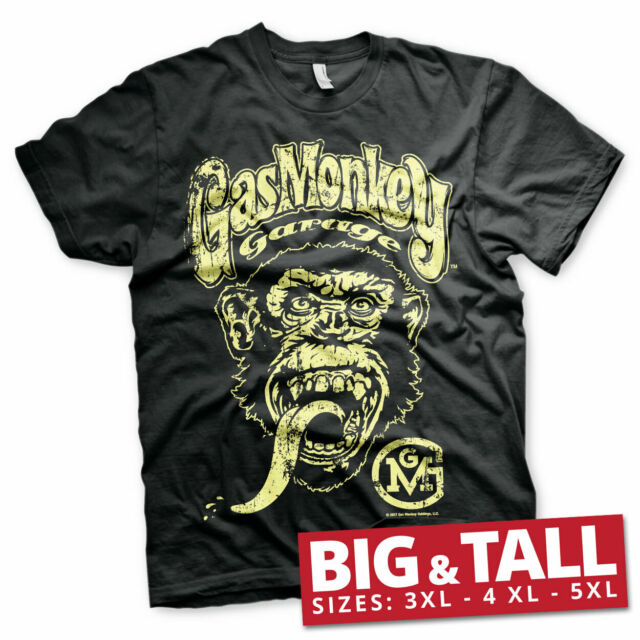 Licensed Gas Monkey Garage Big Brand Yellow Logo 3XL,4XL,5XL Men's T-Shirt