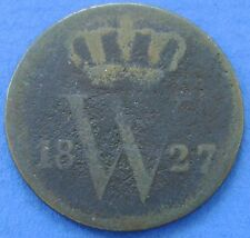 1827 Nederland - The Netherlands 1 cent 1827 B  Willem 1. KM# 47