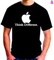 Apple Think Different T Shirt Logo Steve Jobs Osx Mac Geek Black