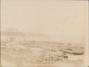 100% Vrai France, Marseille, Vue Du Palais Du Pharo Et Des Quais, 1898, Vintage Citrate Pr