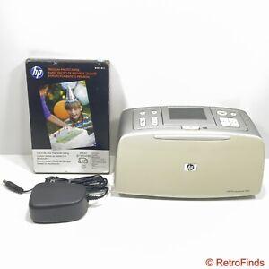 """HP Photosmart 385 4x6"""" Digital Photo Inkjet Printer Q6387L w/ HP Photo Paper"""
