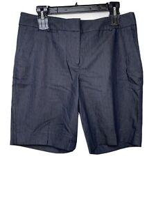 NWT Talbots Shorts Sz 8 Blue Stretch Cotton Blend Bermuda 33.5 X 9 MSRP $49.50