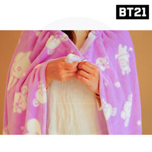 BTS-BT21-Official-Authentic-Goods-Blanket-2Type-By-Kumhong-Fancy-Tracking