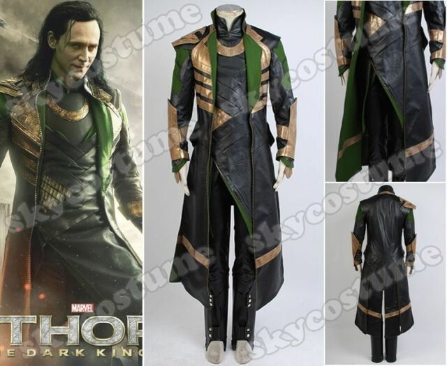 Thor 2 The Dark World Loki Outfit Whole Set Cosplay Costume Outfit Coat Cape