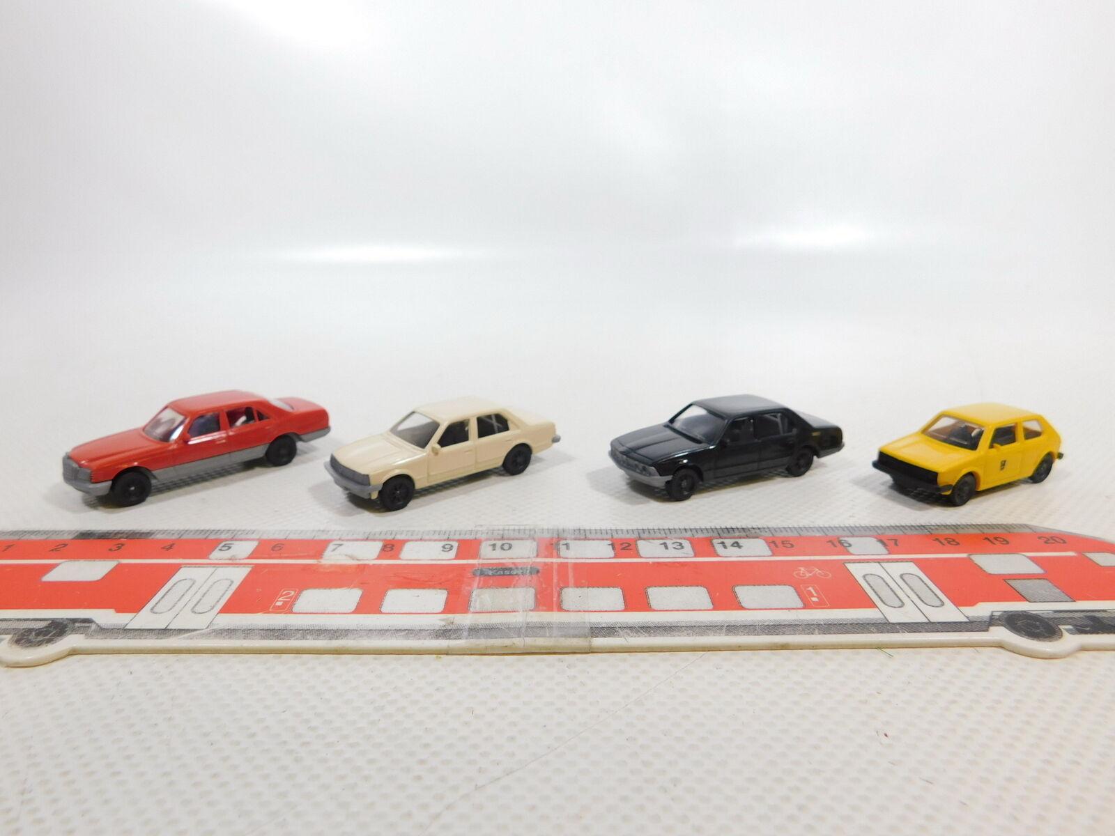 CA601-0,5 x fleischmann 1 87 H0 Car  BMW + Mercedes+Vauxhall+VW post,Very Good