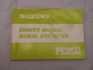 SUZUKI-PE250-1980-OWNERS-MANUAL-MANUEL-DU-PROPRIETAIRE