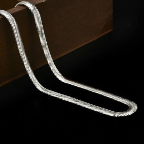 16-24inch 925 Sterling Solid Silver 6MM Snake Chain Men Women Fashion Necklace