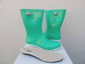 Neon Green Rain Boots