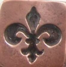 "Square Fleur de Lys Wax Seal Stamp (3/4"" , wood handle), may be irregular"